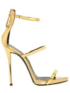 Love the shoes! GIUSEPPE ZANOTTI Metallic Leather Sandals