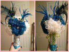 DIY Bride: SONYA W. (from Stephens City, VA) creates her own flower bouquet and much more...{SERENA} Flower Diy Wedding Projects, Diy Projects, Just Amazing, Fascinator, Brides, Bouquet, Create, City, Flowers