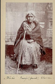 portrait of Washie, female shaman from Fort Wingate, 106 years old