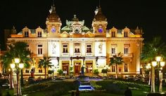 "The ""Monte Carlo"" Casino, between France and Italy in Monaco."