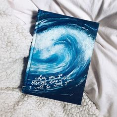I finished painting this Bible during a flood & tornado… Sometimes I think God gets a little laugh out of irony 😂💙🌊 Scripture Art, Bible Art, Bible Verses, Bible Verse Painting, Painted Books, Hand Painted, Bibel Journal, Sketchbook Cover, Scrapbook Cover