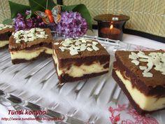 Tündi konyha: Márványos - krémsajtos brownie Tiramisu, Brownies, Cheesecake, Muffin, Goodies, Food And Drink, Sweets, Chocolate, Baking