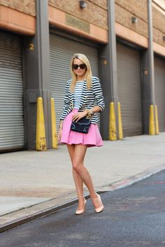 Nautical navy with pink ♥ Atlantic-Pacific: navy, pink & stripes
