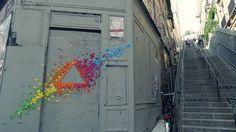 Уличное искусство: радужные оригами от мадемуазель Морис.(Фото+видео)