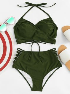 Vacation Swimsuits and Beachwear for women. Womens Affordable bikinis, swim suit cover ups. Summer bikini and beach outfit ideas. Cut Out Bikini, High Leg Bikini, Bikini Set, Bikini Tops, Bikini Dress, Bathing Suits For Teens, Cute Bathing Suits, Bikinis For Sale, Summer Bikinis