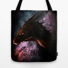 I am FIRE. I am DEATH. Tote Bag by SUIamena - $22.00