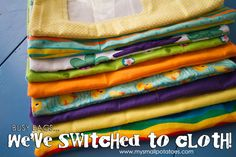 Busy Bags...We've Switched To Cloth! A VERY simple tutorial for making safer, planet-friendly busy bags, complete with a see-through window! via www.mysmallpotatoes.com