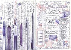 illustration journal by Andrea Joseph Art Journal Pages, Sketch Journal, Art Journaling, Journal Ideas, Creative Journal, Creative Art, Andrea Joseph, Moleskine, Ideas Geniales