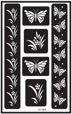 Over 'n' Over Reusable Glass Etching Stencils 5 X8  1/Pkg-Butterfly