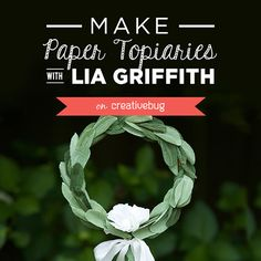 DIY Crepe Paper Laurel Leaf Topiary...use for placecards at an event