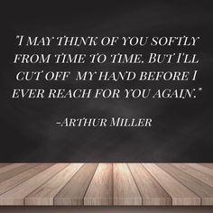 This is from Arthur Miller's play, The Crucible