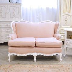 Fancy Mauve Linen Loveseat $1195.00 #OOAK #thebellacottage #shabbychic