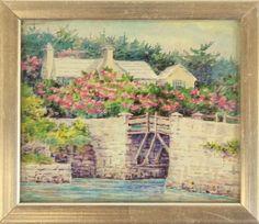 """""""Silver Framed Bermuda Cottage Print"""""""