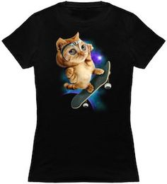 Skateboard Cat T-Shirt.
