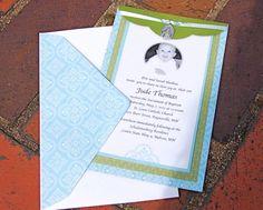 The Clay Rosary Girl: Making Catholic Baptism Invites