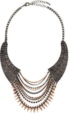This Spike Chain Collar can make any outfit more edgy!