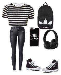 """Untitled #19"" by princesstahje ❤ liked on Polyvore featuring Topshop, Converse, Casetify and Beats by Dr. Dre"