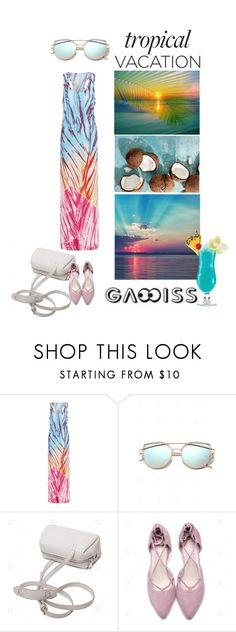 """gamiss dress"" by katarinaf ❤ liked on Polyvore featuring TIKI, TropicalVacation, summer2017 and gamiss"