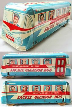 WOLVERINE: 1955 Tin Litho Honeymooners' Special JACKIE GLEASON BUS