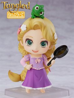 """Buy Nendoroid Rapunzel - Articulated Figure at Mighty Ape Australia. The Disney princess with magical golden hair is joining the Nendoroids! From the movie """"Tangled"""" comes a Nendoroid of Rapunzel! She comes with three . Disney Rapunzel, Tangled Rapunzel, Cute Disney, Disney Art, Disney Pixar, Kawaii Disney, Chibi, Anime Figures, Action Figures"""