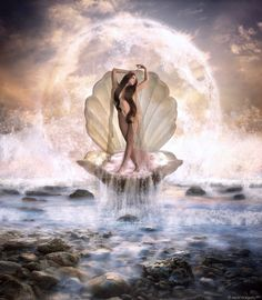 Birth of Venus by arawyndesigns on DeviantArt The Birth Of Venus, Magic Women, Fantasy Artwork, Deviantart, Amazing, Fictional Characters, Astrology, Zodiac, Naked