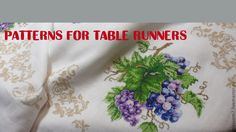 patterns for table runners