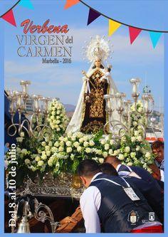 Procesión marina terrestre Virgen del Carmen Marbella http://www.marbella-sanpedro.com/i-verbena-popular-honor-puerto-la-bajadilla/