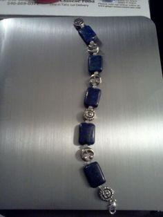The Vampire Diaries Inspired Genuine Lapis & moonstone Bracelet