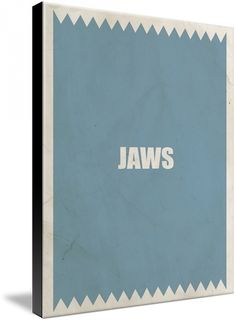 jaws - movie poster minimalistic style