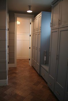 Closed mudroom cabinets? Would you rather hide the mess or have open access?