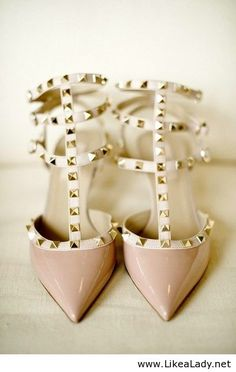 Saw a girl wearing these at my high school grad. Only a dream for me.... #valentinoshoes