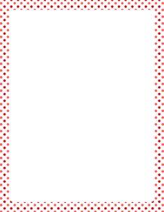 Valentine Polka Dot Border