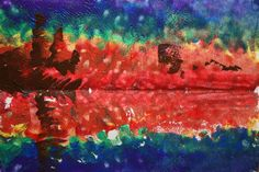 Create with your hands: Kids Get Arty: Monet Sunset in Venice: Sponge Printing & Mirror Images