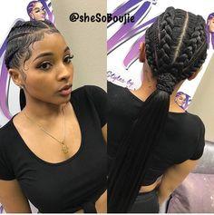 Schedule Appointment with Styledby Yalemichelle - goddess braids - Box Braids Hairstyles, Baddie Hairstyles, Girl Hairstyles, Fashion Hairstyles, Two Braids Hairstyle Black Women, American Hairstyles, Black Braids, Black Hairstyles, Curly Hair Styles