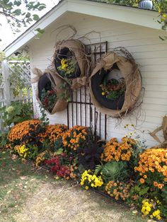 Tire planters... If you have the right spot for these, they are really cool!