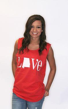 love alabama comfort colors tank - red $28