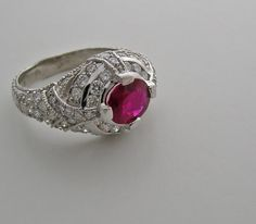 Unusual Engagement Ruby Ring
