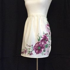 Magenta Apron, Cute Floral Apron for bridal shower, Easter Dinner apron, Wedding Catering aprons, Bulk Subscription box items at wholesale
