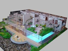 Large Model with pool, yard