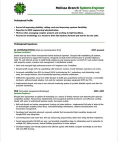Systems Engineer Resume Examples Program Directorpage2  Non Profit Resume Samples  Pinterest .