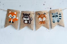 Baby Shower Decorations For Boys Animals Woodland Creatures Ideas Party Animals, Animal Party, Woodland Theme, Woodland Baby, Forest Animals, Woodland Animals, Party Box, Fox Party, Animal Birthday
