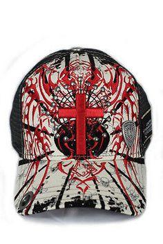Red Monkey Cross N Wings Trucker Hat Limited Edition-Grey Monkey 2fb50d8598c4