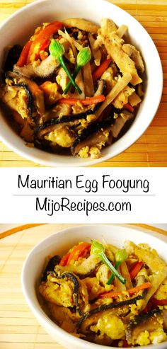 {Mauritian Recipes | Chinese Recipes} Mauritian Egg Fooyung is one of my favorite mauritian chinese recipes! It's more like one of these mauritian chinese egg recipes you will absolutely love and is a perfect less-than-30-minutes meals.