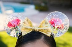 How to make Enchanted Rose DIY Mickey ears, inspired by Beauty and the Beast, by Meagan Mora for CraftyChica.com