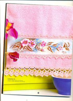 Pintura em Tecido Passo a Passo: Barrados pra pintura em toalhas