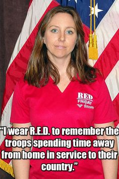 Hodges' VSC director Christine Manson, who is also an U.S. Air Force reservist, wears R.E.D. to honor those who are away from their families. Wearing R.E.D. means Remembering Everyone Deployed!