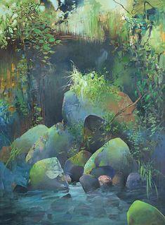 """RANDALL DAVID TIPTON """"Pool at the Base of the Falls"""""""