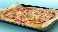 Langpannepizza - Kos - Oppskrifter - MatPrat Nordic Recipe, Cloud Bread, Calzone, Falafel, Hawaiian Pizza, Pizza Recipes, Vegetable Pizza, Quiche, Nom Nom