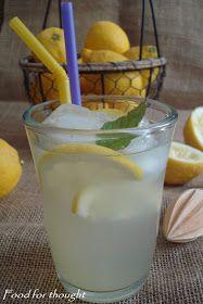 Λεμονάδα από λεμόνι…         Η λεμονάδα αυτή είναι μία από τις αναμνήσεις των παιδικών μου χρόνων. Και πιστεύω πως αν την δο... Fruit Punch, Greek Recipes, Detox Drinks, Yummy Drinks, Food For Thought, Glass Of Milk, Cocktails, Sweets, Foods