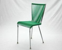 Chaise scoubidou années 60